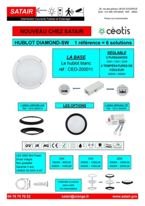 Hublot Diamond-SW modulable et réglable
