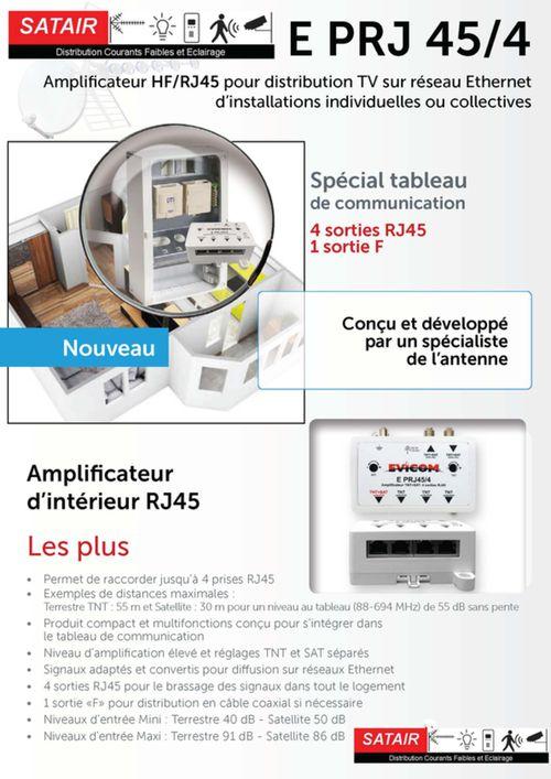 Amplificateur pour distribution TV sur reseau Ethernet