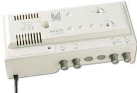 AMPLIFICATEUR D'APPARTEMENT 1E/2S TV 16 dB / SAT 30 dB - AI210