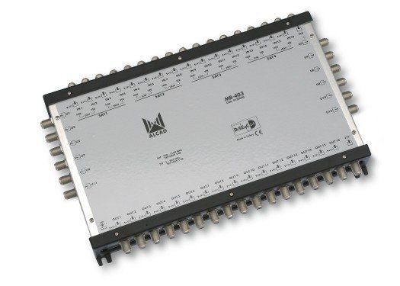 COMMUTATEUR AUTONOME 17E/12S ALCAD DiSEqC 2.0, BANDE TERRESTRE ACTIVE - MB403