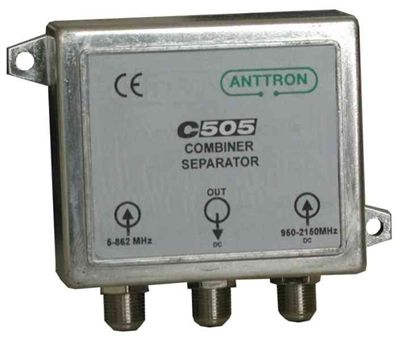 COUPLEUR TV/SAT EN ZAMAC TRES HAUTE REJECTION UHF ANTTRON C505