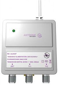 ALIMENTATION 2 X 24V 200 mA - PROTECT. COURT CIRCUIT MONTAGE RAIL DIN - AL2404F