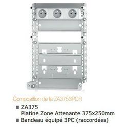 ZONE ATTENANTE 375x250 mm équipée d'un bandeau 3PC raccordées - ZA3753PCR
