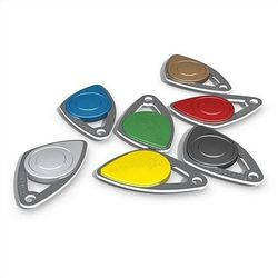 BADGE ELECTRONIQUE INOX COULEUR JAUNE