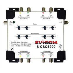 AMPLIFICATEUR DE TETE BIS 4 ENTREES - 25 dB Réglage Gain + Pente - SCSC5200