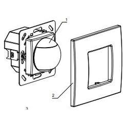 DETECTEUR MOUVEMENT 200° ENCASTRE - 230Vac - 6m - 1s,1s à 20min - 5 à 2000 Lux -