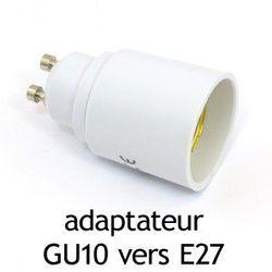 ADAPTATEUR CULOT GU10 VERS E27 - 73985