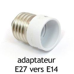 ADAPTATEUR CULOT E27 VERS E14 - 73986