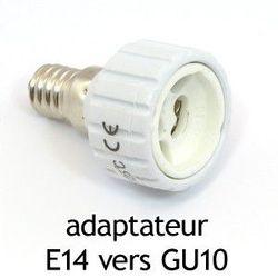 ADAPTATEUR CULOT E14 VERS GU10 - 73988