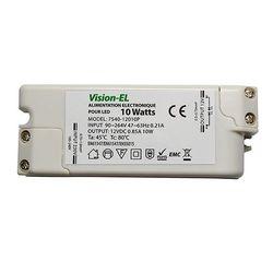 ALIMENTATION LED 12V 10 Watts  DC 0.85A IP50 VISION-EL - MII7540