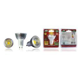 AMPOULE LED GU10 4W COB - 2700K 80° 360 lm BLANCHE - 7839