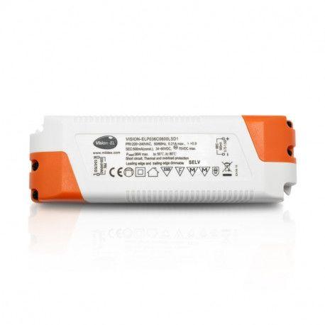 ALIMENTATION LED VISION-EL 34-60V DIMMABLE COUPURE DE PHASE DC 36 W DC IP20