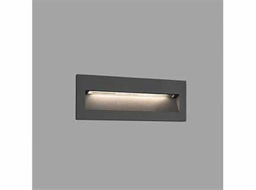 APPLIQUE LED ENCASTRE NAT 8W 3000K 330LM IP65 CLASSE I GRIS FONCE - 70638
