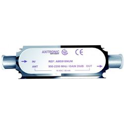 AMPLIFICATEUR DE LIGNE SATELLITE 20DB 950-2200 +20dB - AMPLI20PLUS - AMS918NUM